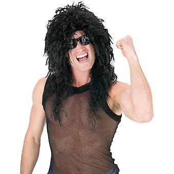 Headbanger Curly Black Wig