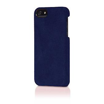 Opprinnelige Alcantara italiensk Design sak for iPhone 5/5s - mørk blå semsket