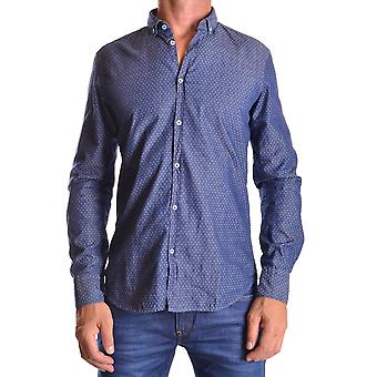 Manuel Ritz Ezbc128001 Men's Blue Cotton Shirt