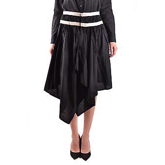 Yohji Yamamoto Ezbc106033 Women's Black Cotton Skirt
