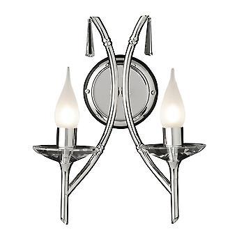 Elstead-2 licht indoor Wandlicht gepolijst nikkel-BR2 nikkel