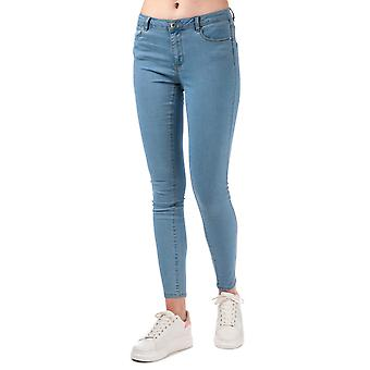 Womens Vero Moda Julia Flex il Slim Jeggings en denim bleu clair