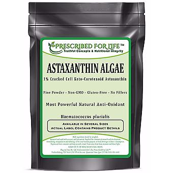 Astaxanthin - Natural Cracked Cell Wall Algae 1% Powder (Haematococcus plurialis)