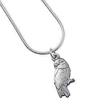哈利·波特镀银海德威格猫头鹰项链