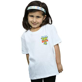 Disney Girls Toy Story 4 Logo Breast Print T-Shirt