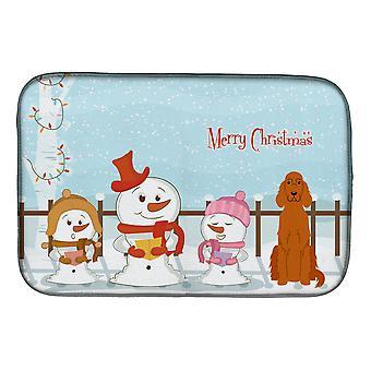 Joyeux Noël chanteurs irlandais Setter plat Mat séchage