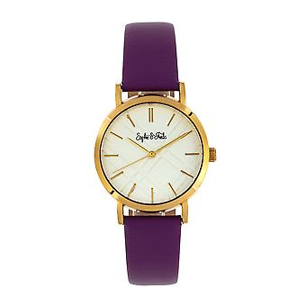 Sophie et Freda Budapest Leather-Band Watch - Purple