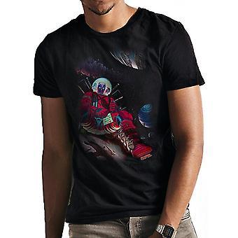 Deadpool Unisex Adults Space T-Shirt