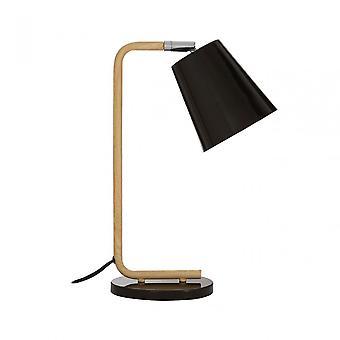 Premier Home Bruin Black Wood / Metal Table Lamp, Wood, Black