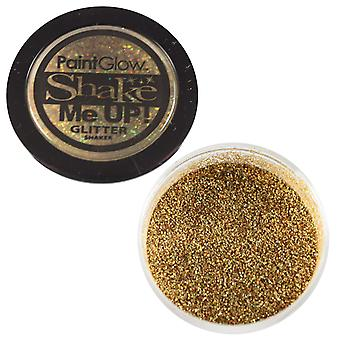 PaintGlow Glitter Shaker Holographic Gold & Fixative Gel