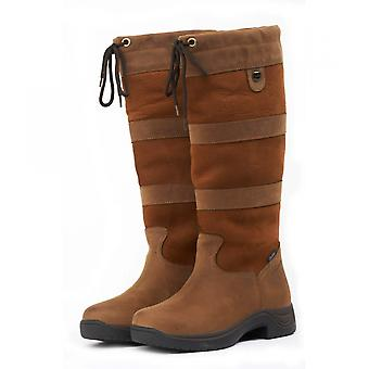 Dublin River Boots With Waterproof Membrane - Dark Brown Wide Calf