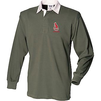 7th Armoured Brigade - Desert Rats Veteran - Licensed British Army Embroidered Long Sleeve Rugby Shirt