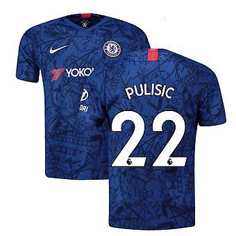 2019-20 Chelsea Home Vapor match shirt (Pulisic 22)-børn