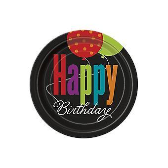 Grattis på födelsedagen Cheer tallrikar