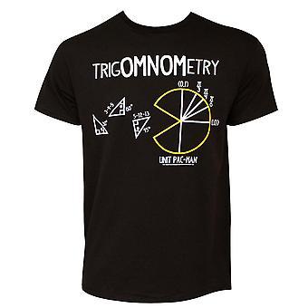 パックマン TrigOMNOMetry メンズ ブラック t シャツ