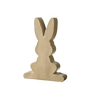11cm Flat Easter Bunny Paper Mache Rabbit | Papier Mache Shapes