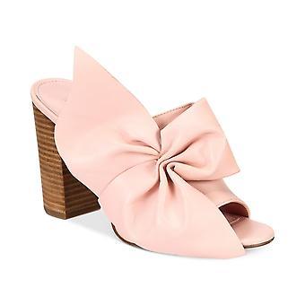 Avec Les Filles Womens marie bow Peep Toe Casual Slide Sandals