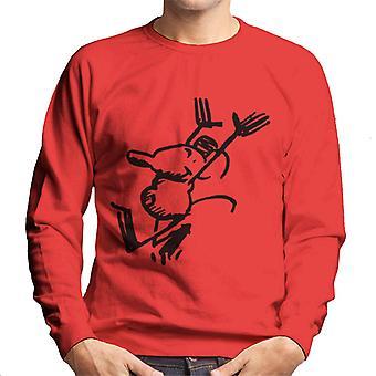 Krazy Kat Ignatz Mouse Victory Men's Sweatshirt