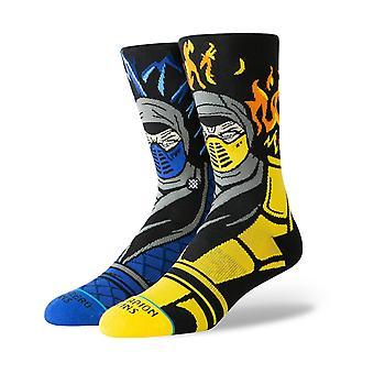 Stance Mortal Kombat Sub Zero Vs Scorpion Crew Socks in Black