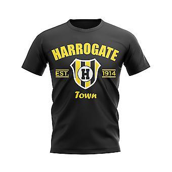 Harrogate perustettiin jalka pallo T-paita (musta)