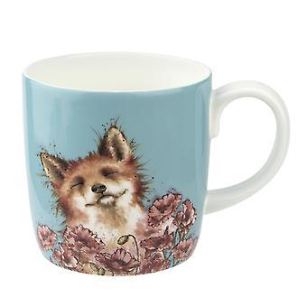 Wrendale Designs Poppy Field Fox Mug