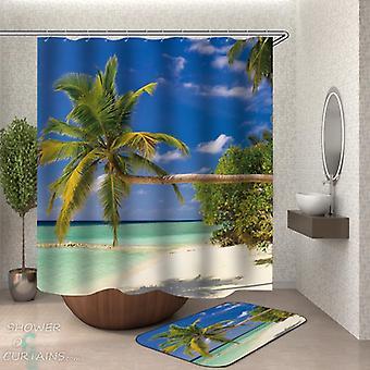 Horizontal Palm Tree Shower Curtain