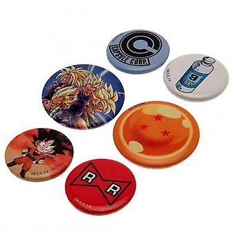Dragon Ball Z Button Badge Set (Pack of 6)