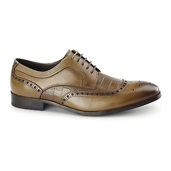 Azor Bianco Mens Pelle Derby Brogues Tan