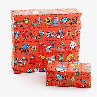 Tyrrell Katz Monsters Wrapping Paper