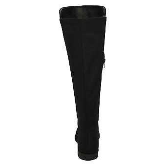 Spot On Womens/Ladies Wide Leg Knee High Boots