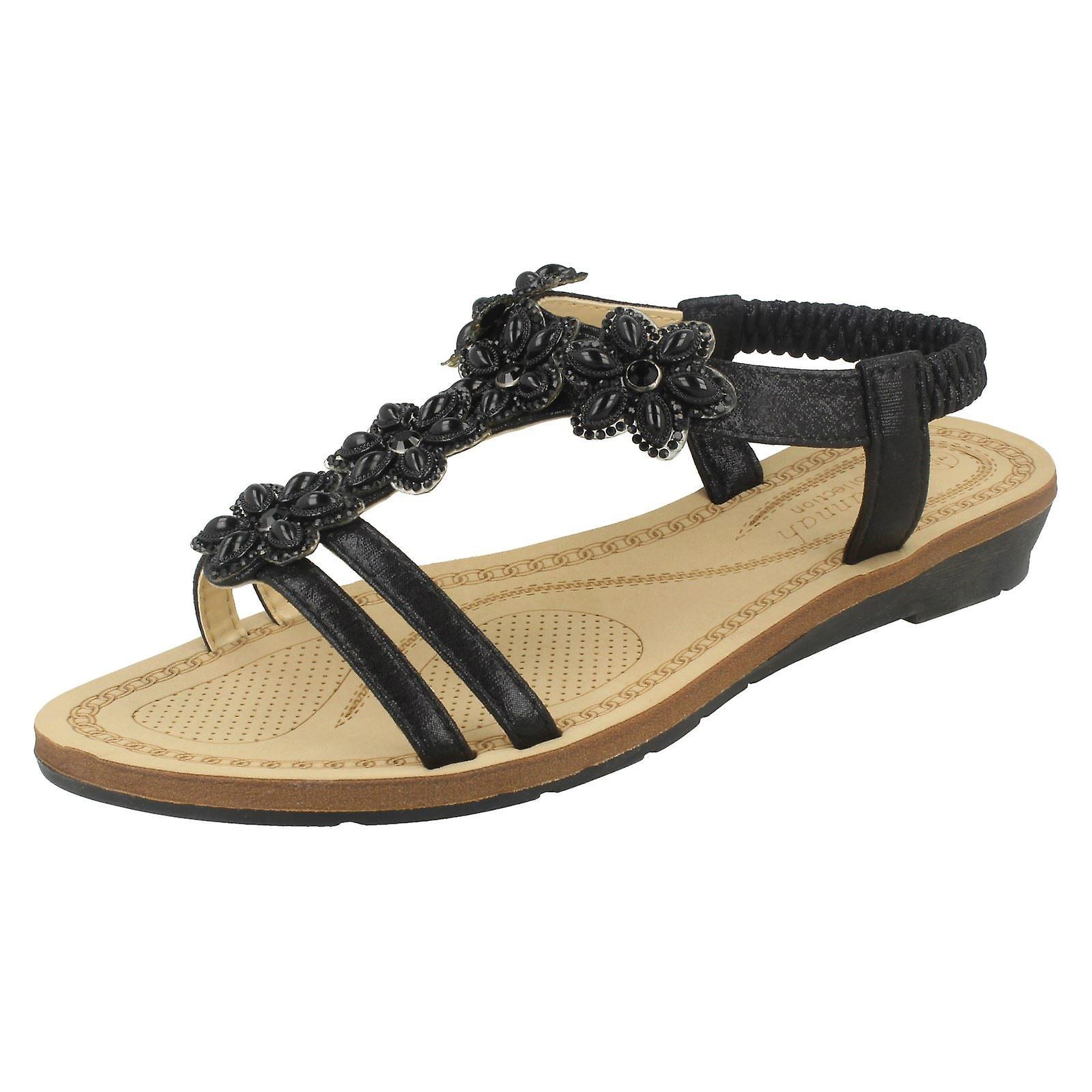 Ladies Savannah Strappy Slingback Sandals F10871 7RMvZ