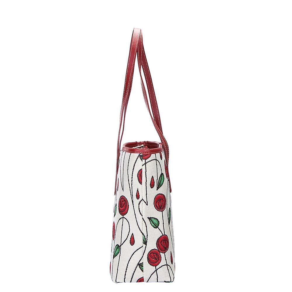 Mackintosh - simple rose shoulder tote bag by signare tapestry / coll-rmsp