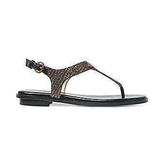 Michael Michael Kors Womens Plate Leather Split Toe Casual T-Strap Sandals