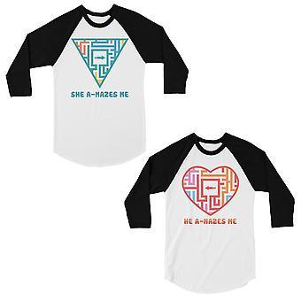 A-Mazes Me Matching Baseball Shirts Funny Couples Anniversary Gift