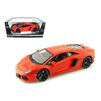 2012 Lamborghini Aventador LP700-4 Orange 1/18 Diecast Modellauto von Bburago
