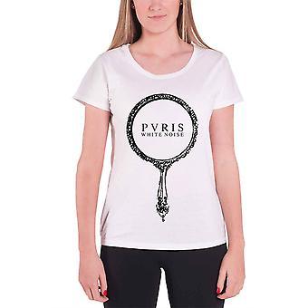 PVRIS T Shirt White Noise band logo Official Womens New Skinny Fit white
