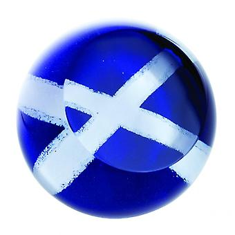 Caithness Glass Scottish Saltire Paperweight
