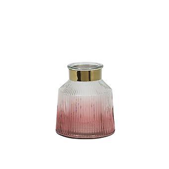 Light & Living Hurricane 14x16cm - Patrix Glass Pink And Gold
