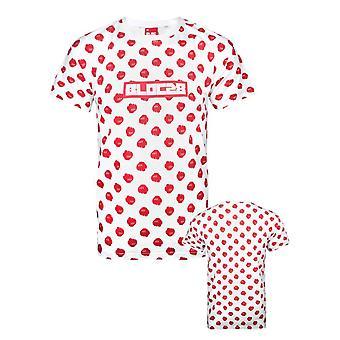 Bloco 28 Padrão do Punho Vermelho Men'camiseta