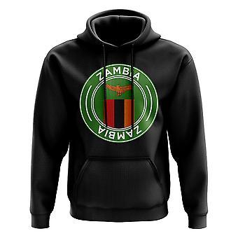 Zambia Football Badge Hoodie (Black)
