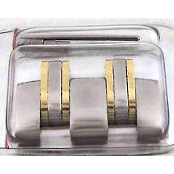 Autentyczny zegarek omega bransoletka link, stal z 18ct żółte złoto, omega 114da1503