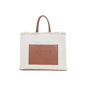 N°21 20ebm0208cj00n010 Women's Beige/brown Jute Tote