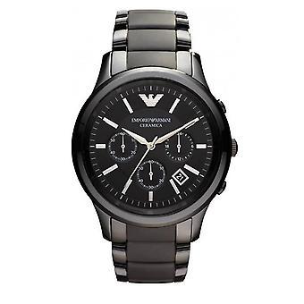Emporio Armani męskie ceramiczny Chronograph zegarek - AR1452 - czarny