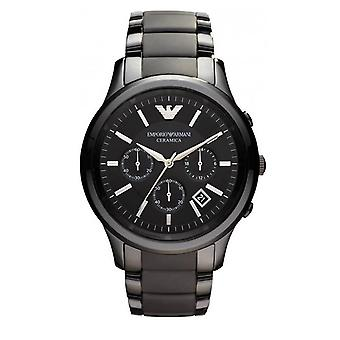 Emporio Armani Mens' Ceramic Chronograph Watch - AR1452 - Black