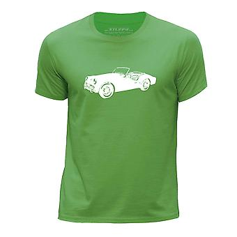 STUFF4 Boy's Round Neck T-Shirt/Stencil Car Art / TR3 B/Green