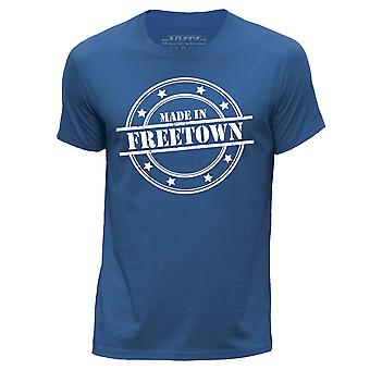STUFF4 Hombres's Round Neck Camiseta/Made In Freetown/Royal Blue