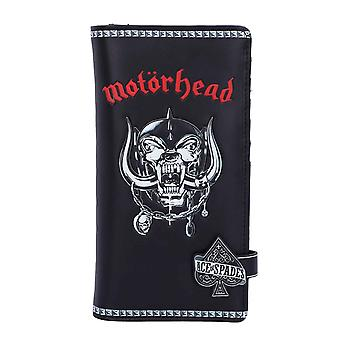 Motorhead Purse Warpig Embossed Band Logo new Official Black 18.5 cm