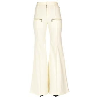 Chloé Ezgl079022 Women's White Cotton Pants