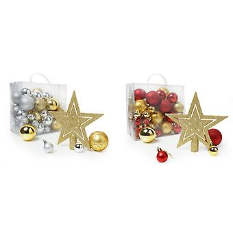 Christmas Shop blandade 50 bit julgran dekoration Pack
