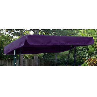 Purple Water Resistant 2 Seater Replacement Puòopy per Garden Hammock Swing Seat